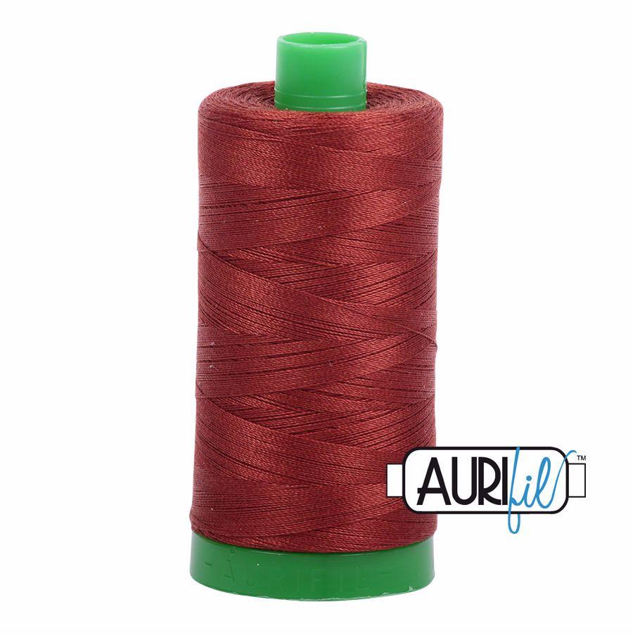 Aurifil Cotton 40wt, 2355 Rust