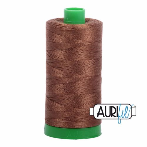 Aurifil Cotton 40wt, 2372 Dark Antique Gold