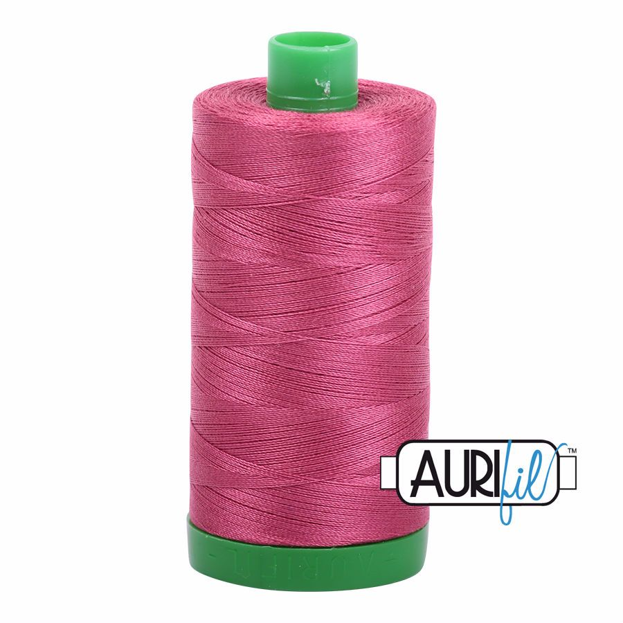 Aurifil Cotton 40wt, 2455 Medium Carmine Red
