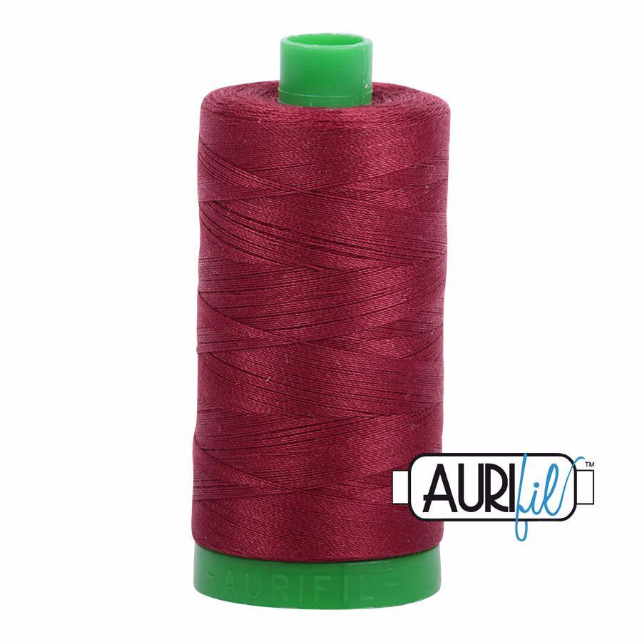 Aurifil Cotton 40wt, 2460 Dark Carmine Red
