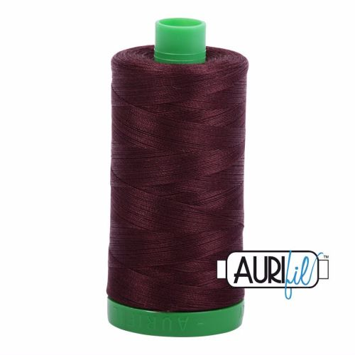 Aurifil Cotton 40wt, 2468 Dark Wine