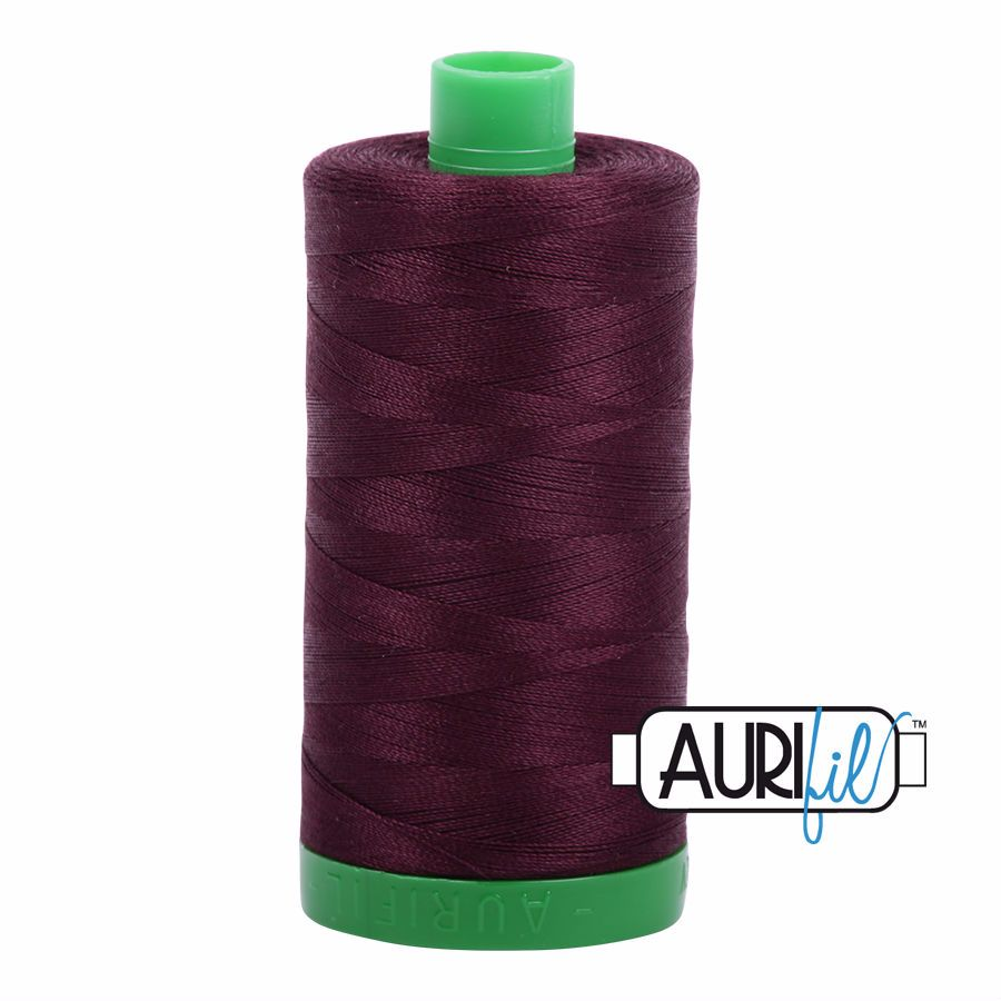 Aurifil Cotton 40wt, 2465 Very Dark Brown
