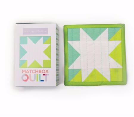Moda Matchbox Quilt Kit - Design No.1 - Aqua
