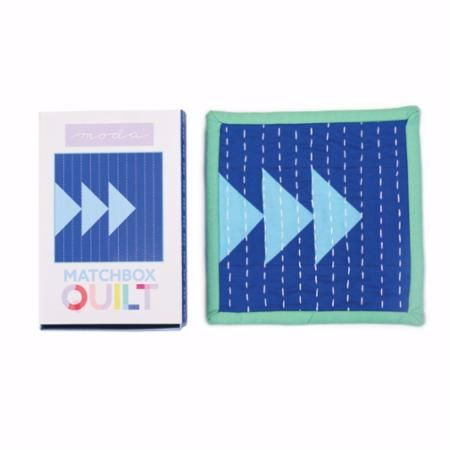 Moda Matchbox Quilt Kit - Design No.3 - Blue