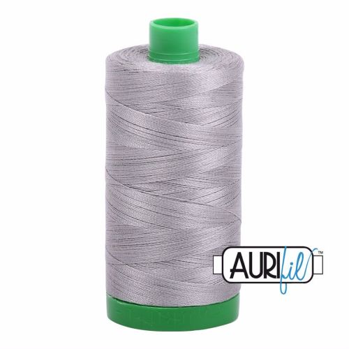 Aurifil Cotton 40wt, 2620 Stainless Steel