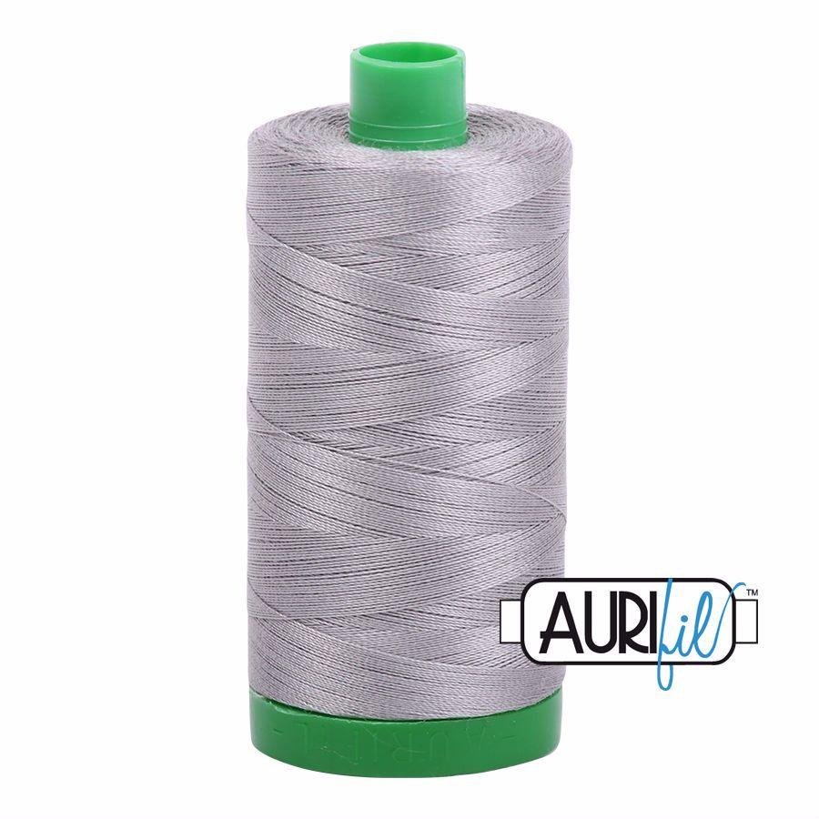 Aurifil Cotton 40wt, 2620 Stainless Steel