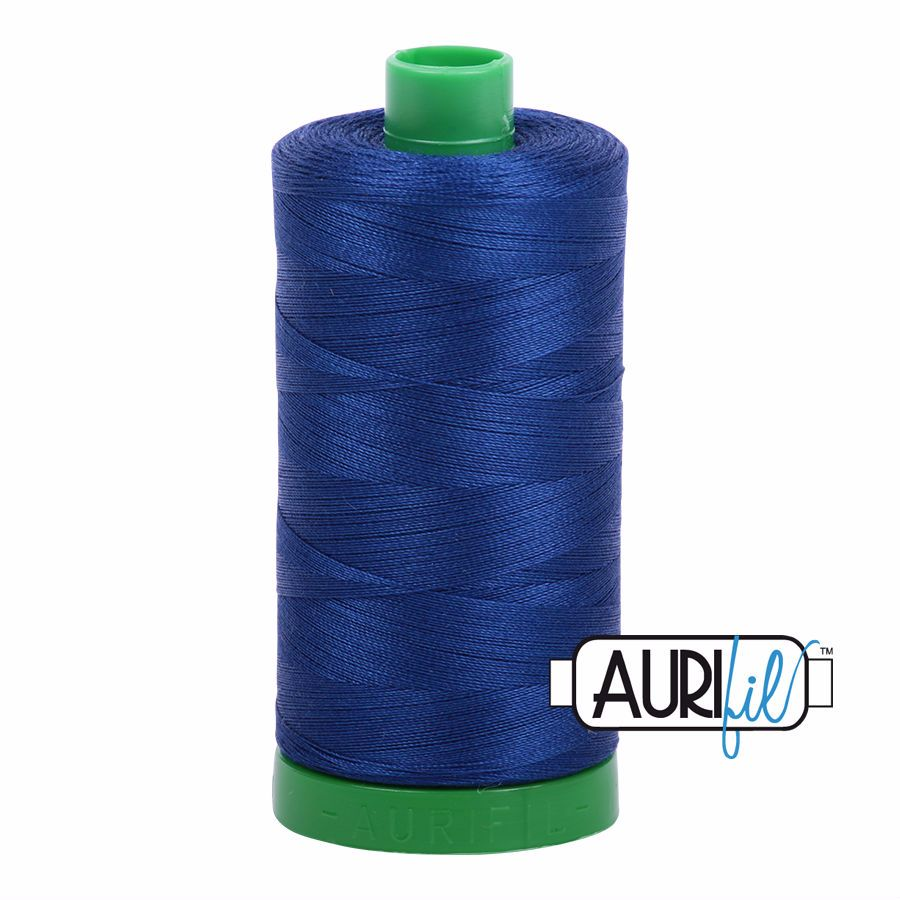 Aurifil Cotton 40wt, 2780 Dark Delft Blue