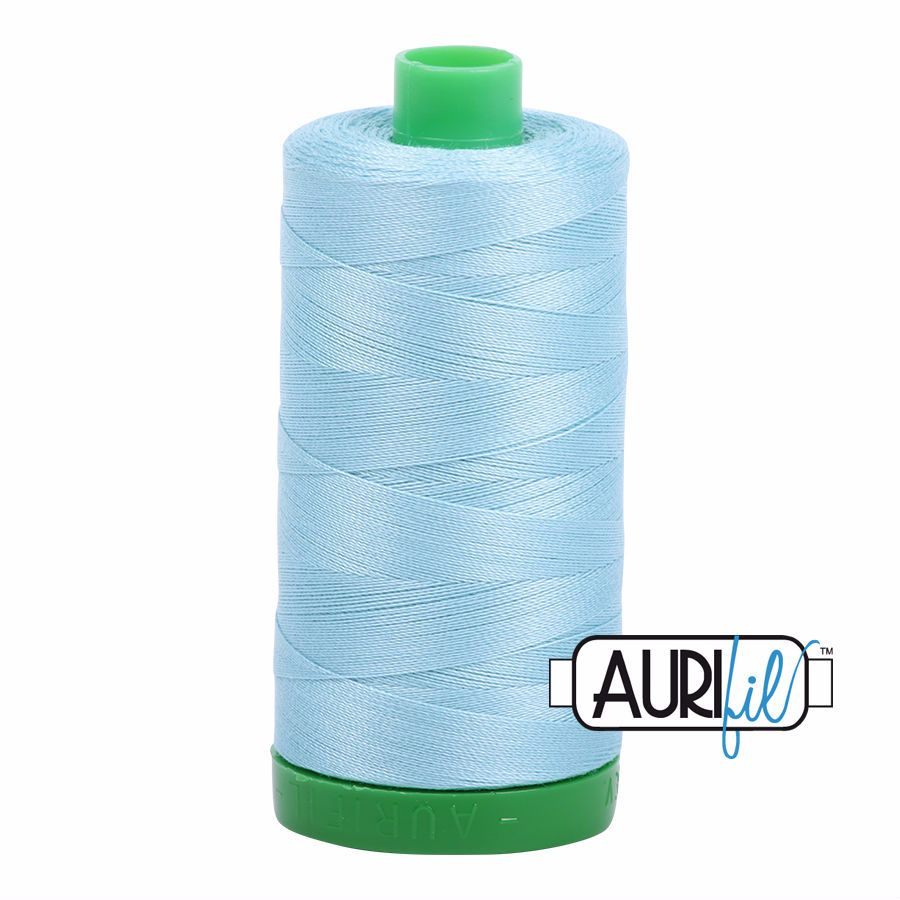Aurifil Cotton 40wt, 2805 Light Grey Turquoise