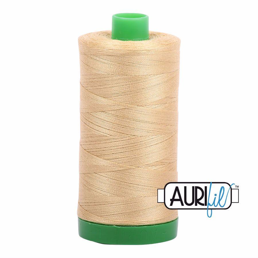 Aurifil Cotton 40wt, 2915 Very Light Brass