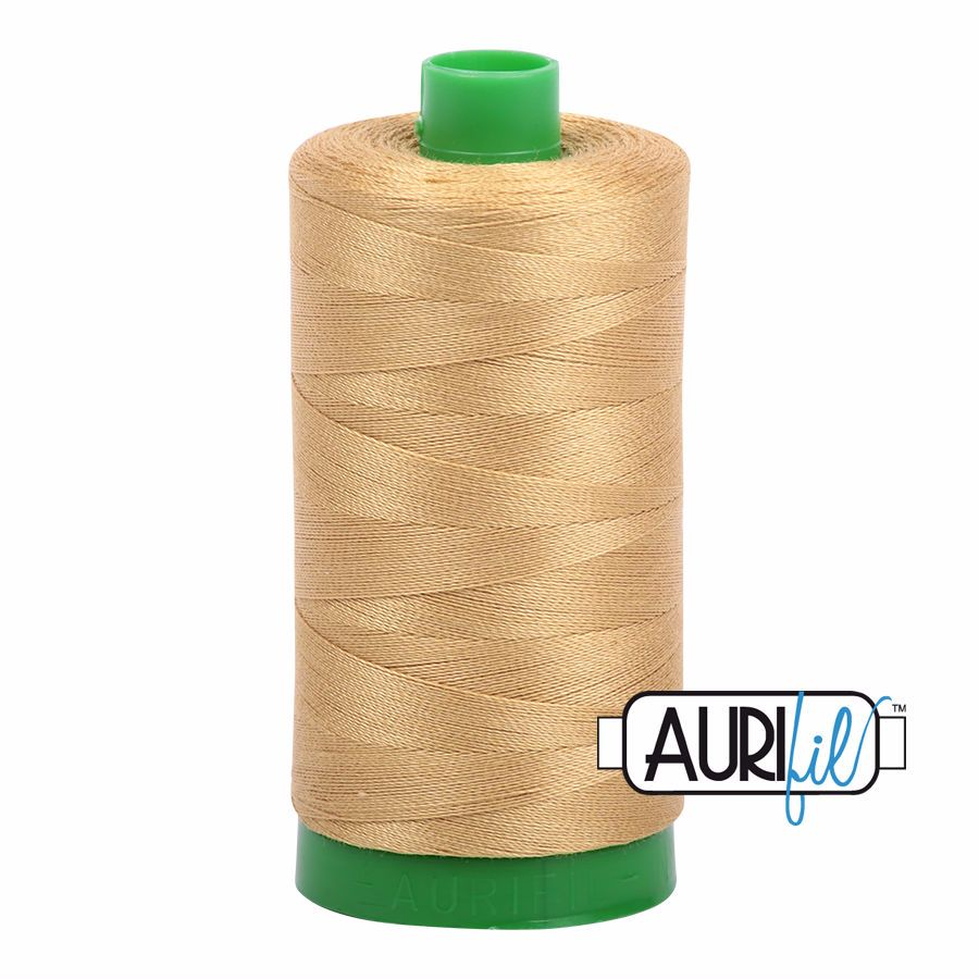 Aurifil Cotton 40wt, 2920 Light Brass