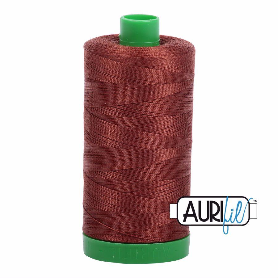 Aurifil Cotton 40wt, 4012 Copper Brown
