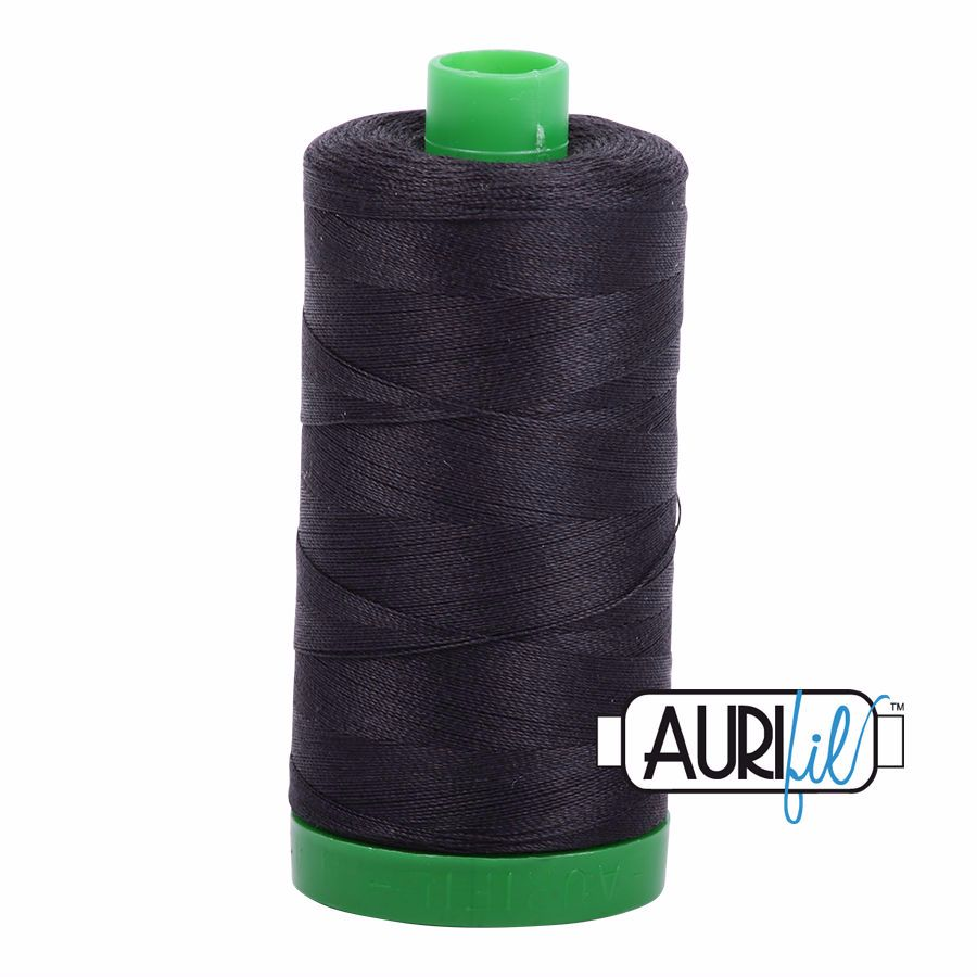 Aurifil Cotton 40wt, 4241 Very Dark Grey