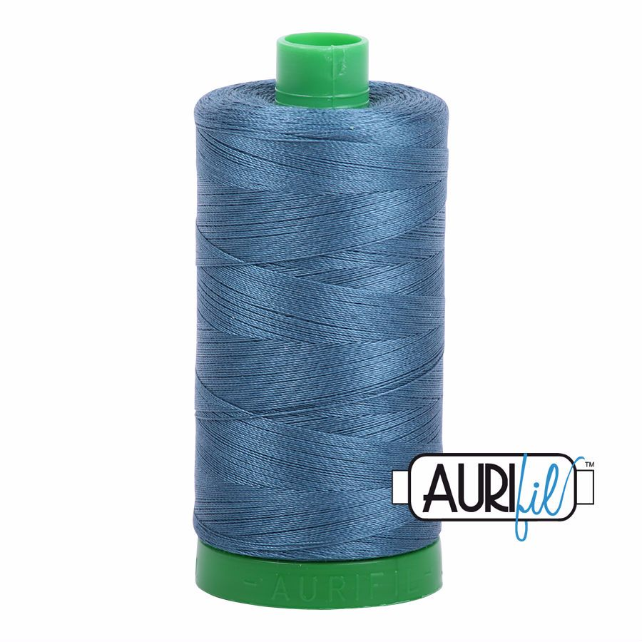Aurifil Cotton 40wt, 4644 Smoke Blue