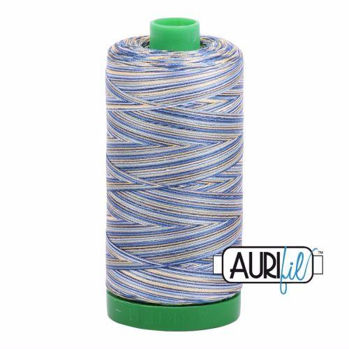 Aurifil Cotton 40wt, 4649 Lemon Blueberry