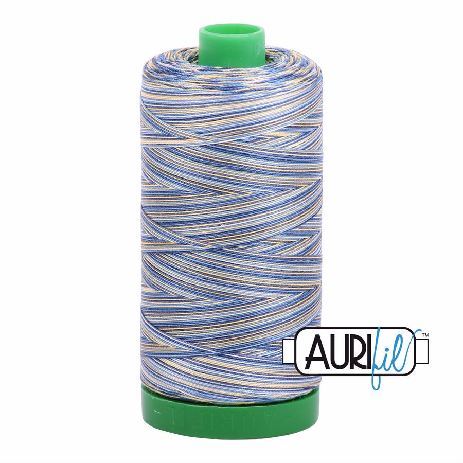 Aurifil Cotton 40wt, 4649 Lemon Blueberry