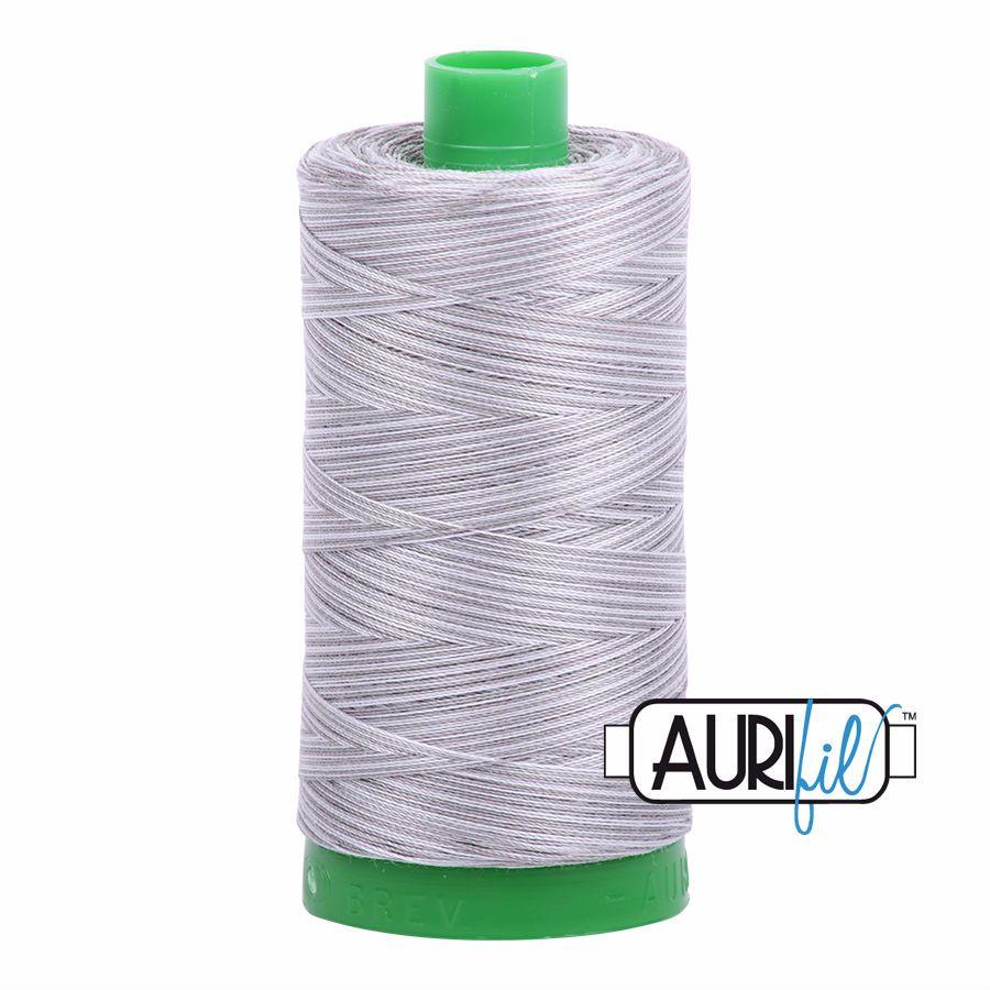 Aurifil Cotton 40wt, 4670 Silver Fox