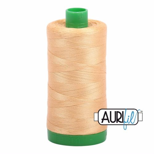 Aurifil Cotton 40wt, 5001 Ocher Yellow
