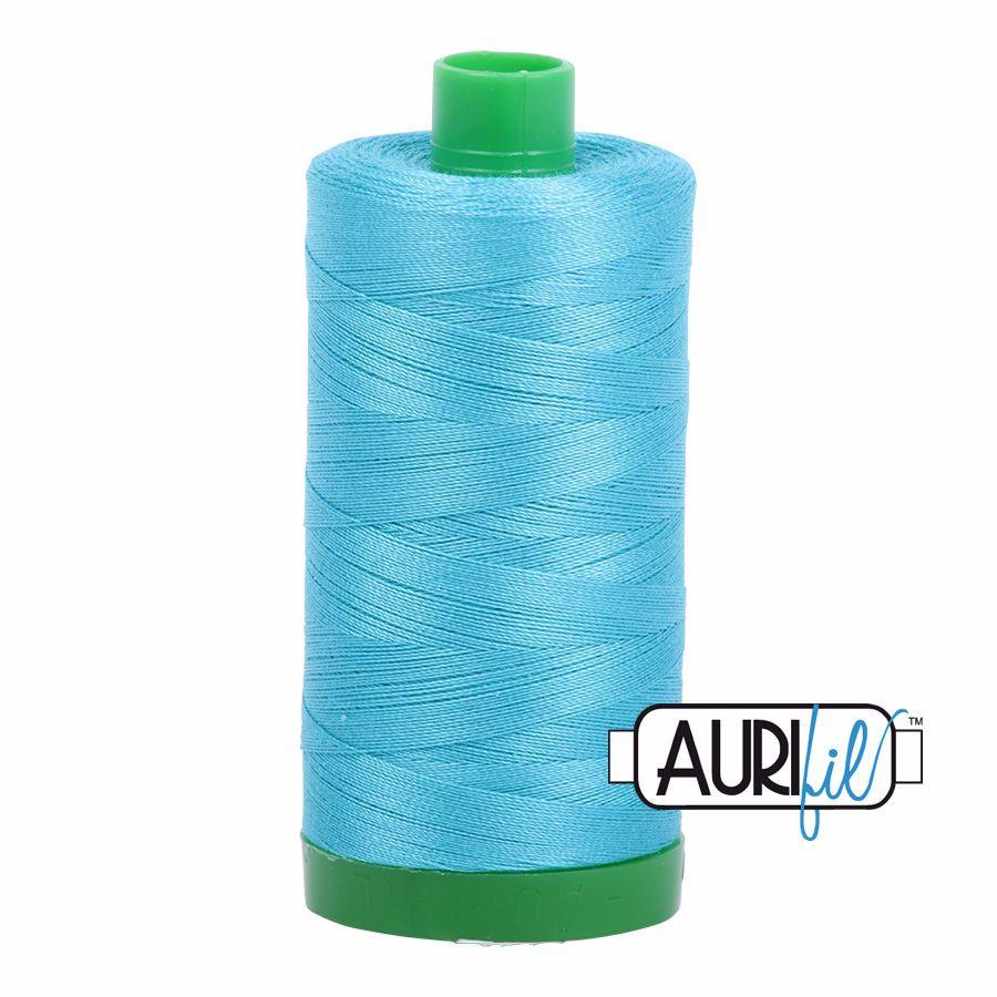 Aurifil Cotton 40wt, 5005 Bright Turquoise