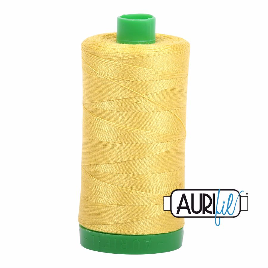 Aurifil Cotton 40wt, 5015 Gold Yellow