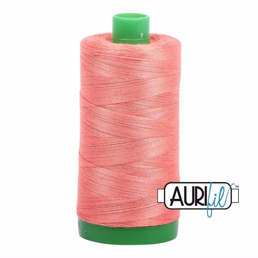 Aurifil Cotton 40wt, 6729 Tangerine Dream