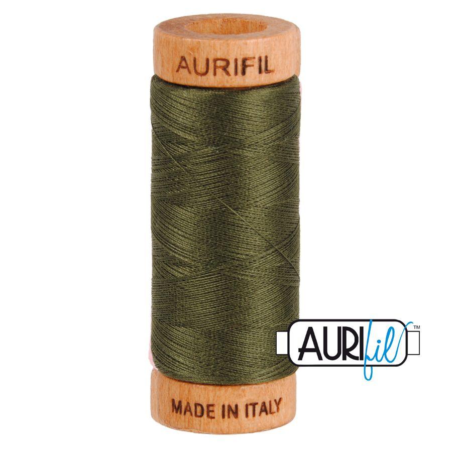 Aurifil Cotton 80wt, 5012 Dark Green