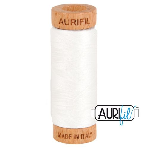 Aurifil Cotton 80wt, 2021 Natural White