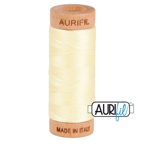 Aurifil Cotton 80wt, 2110 Light Lemon