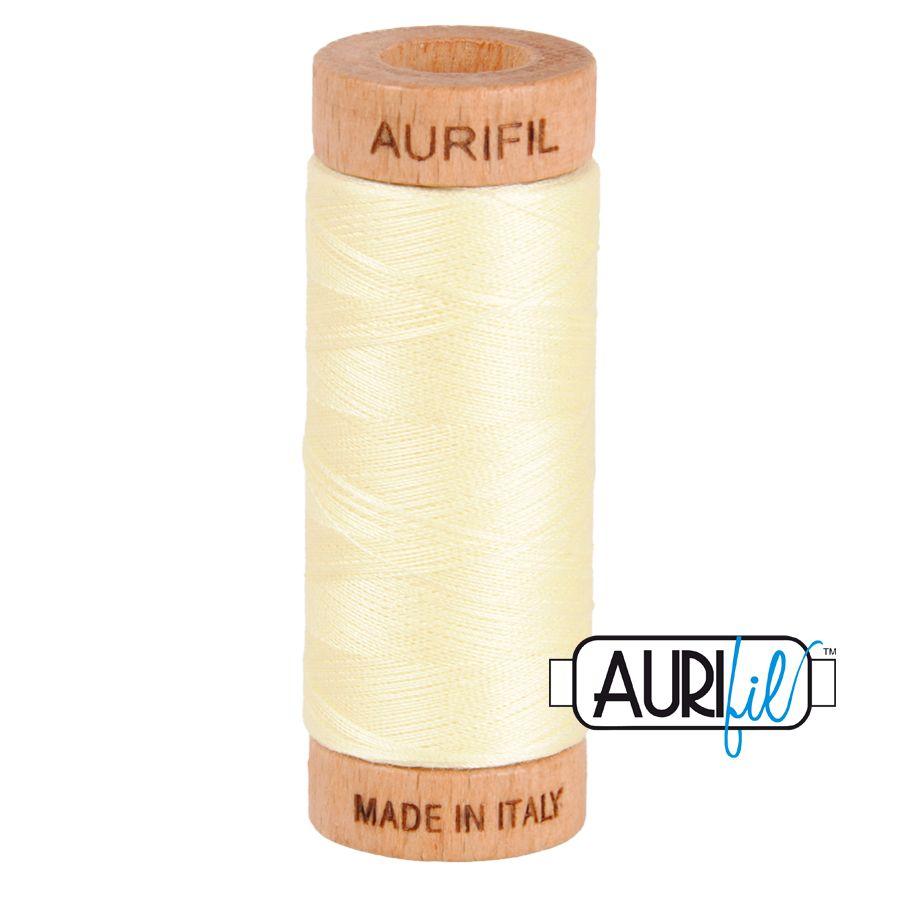 Aurifil Cotton 80wt, 2110 Light Lemon