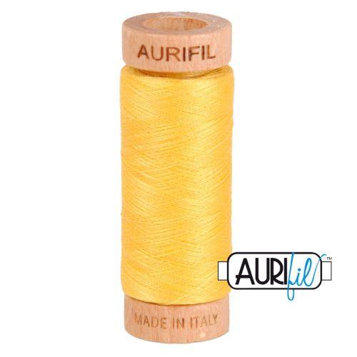 Aurifil Cotton 80wt, 1135 Pale Yellow