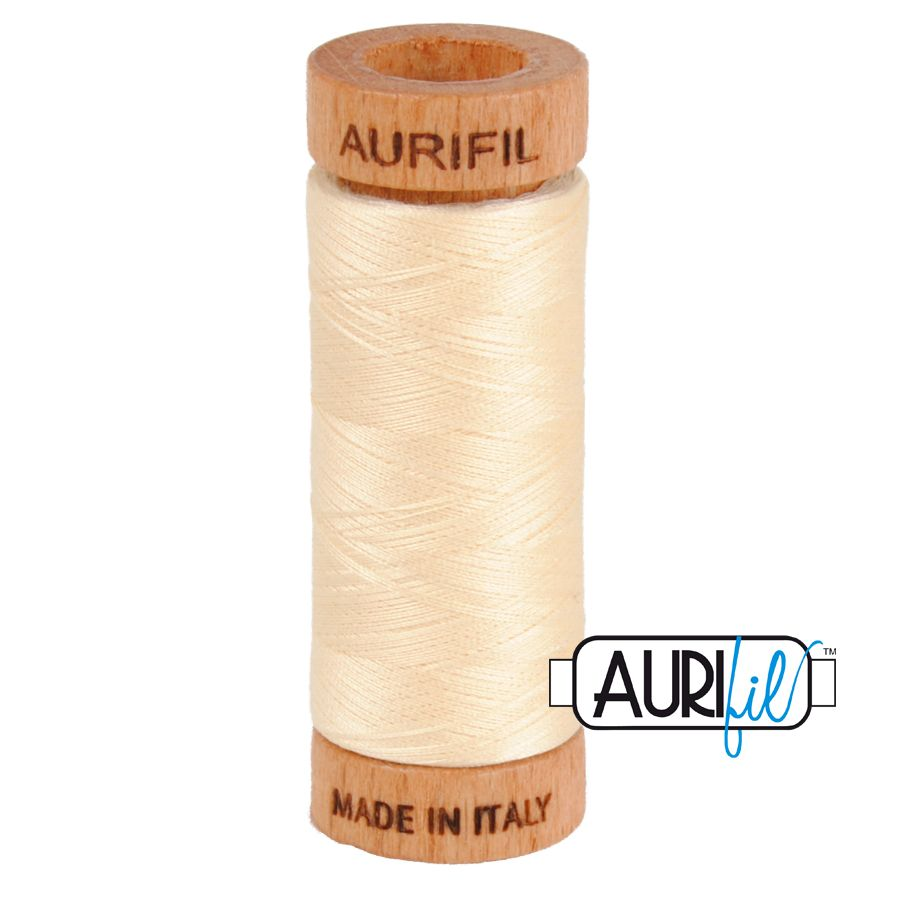 Aurifil Cotton 80wt, 2123 Butter
