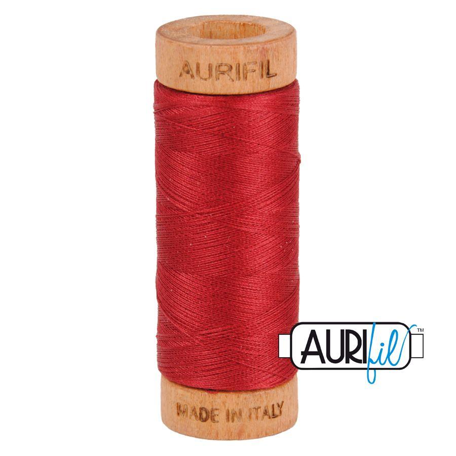 Aurifil Cotton 80wt, 1103 Burgundy