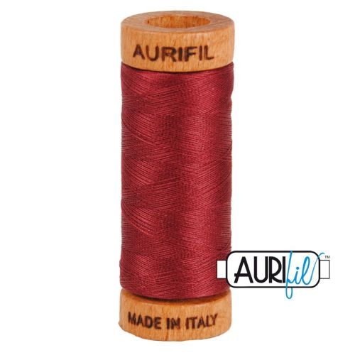 Aurifil Cotton 80wt, 2460 Dark Carmine Red