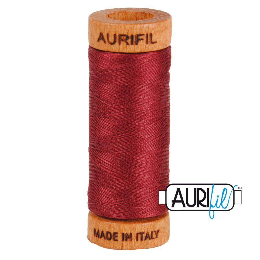 Aurifil Cotton 80wt, 2460 Dark Carmine Red
