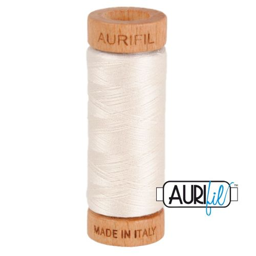 Aurifil Cotton 80wt, 2311 Muslin