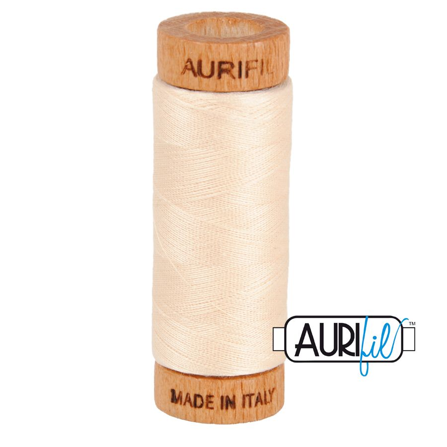 Aurifil Cotton 80wt, 2000 Light Sand