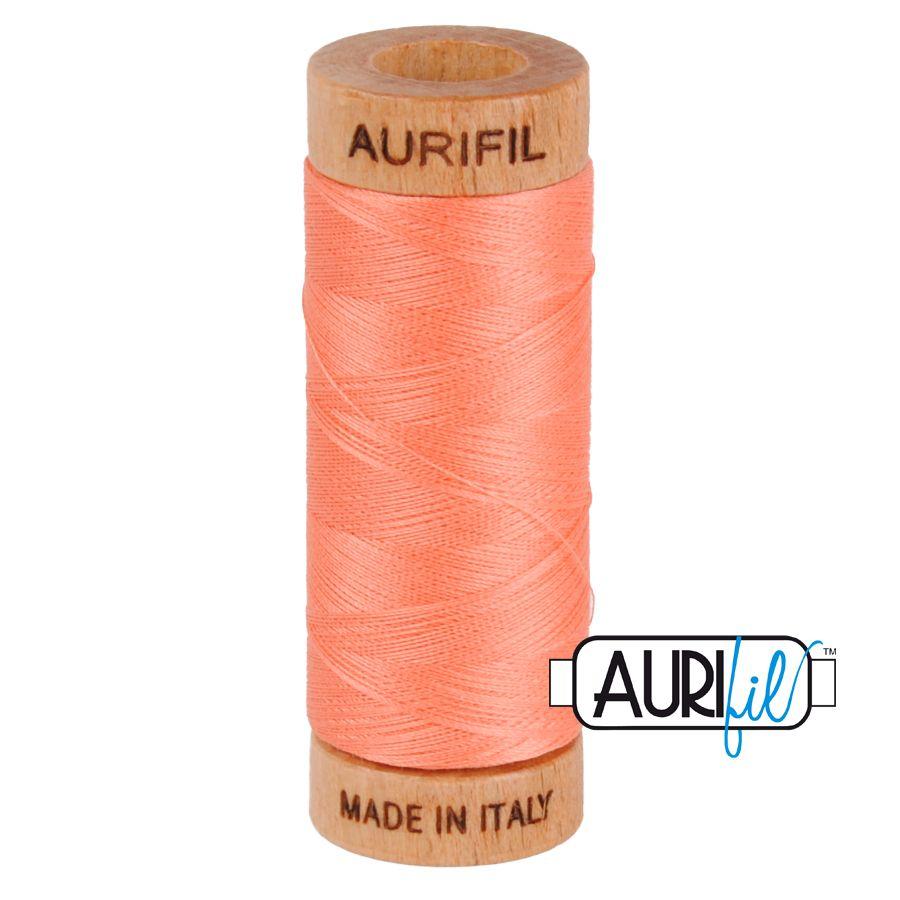 Aurifil Cotton 80wt, 2220 Light Salmon