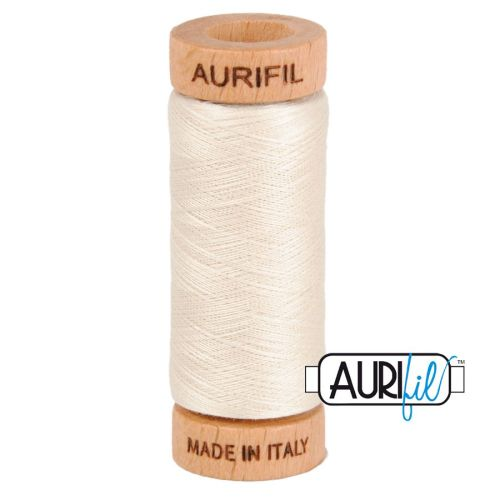 Aurifil Cotton 80wt, 2309 Silver White
