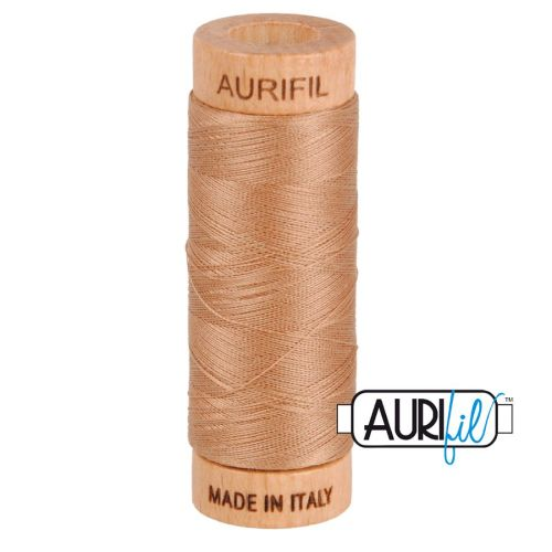 Aurifil Cotton 80wt, 2340 Cafe au Lait
