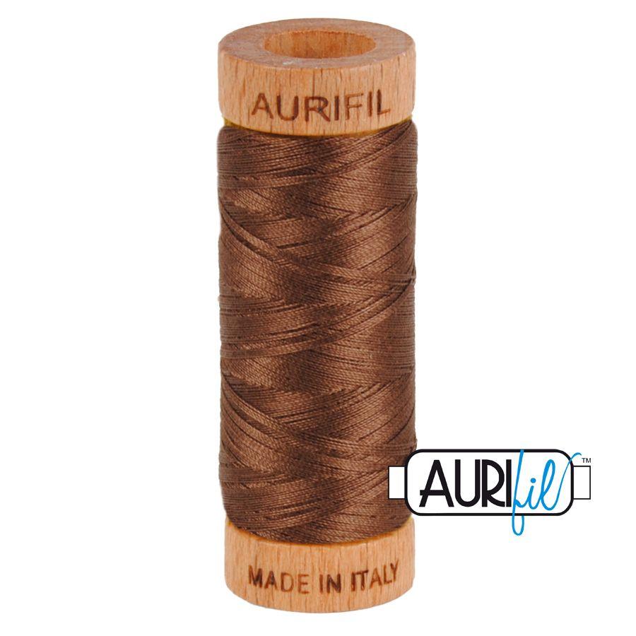 Aurifil Cotton 80wt, 1285 Medium Bark
