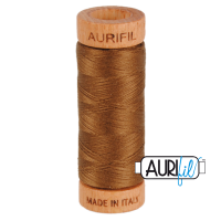 Aurifil Cotton 80wt, 2372 Dark Antique Gold