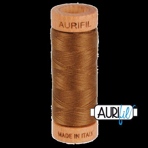 Aurifil Cotton 80wt, 2372 Dark Antique Gold