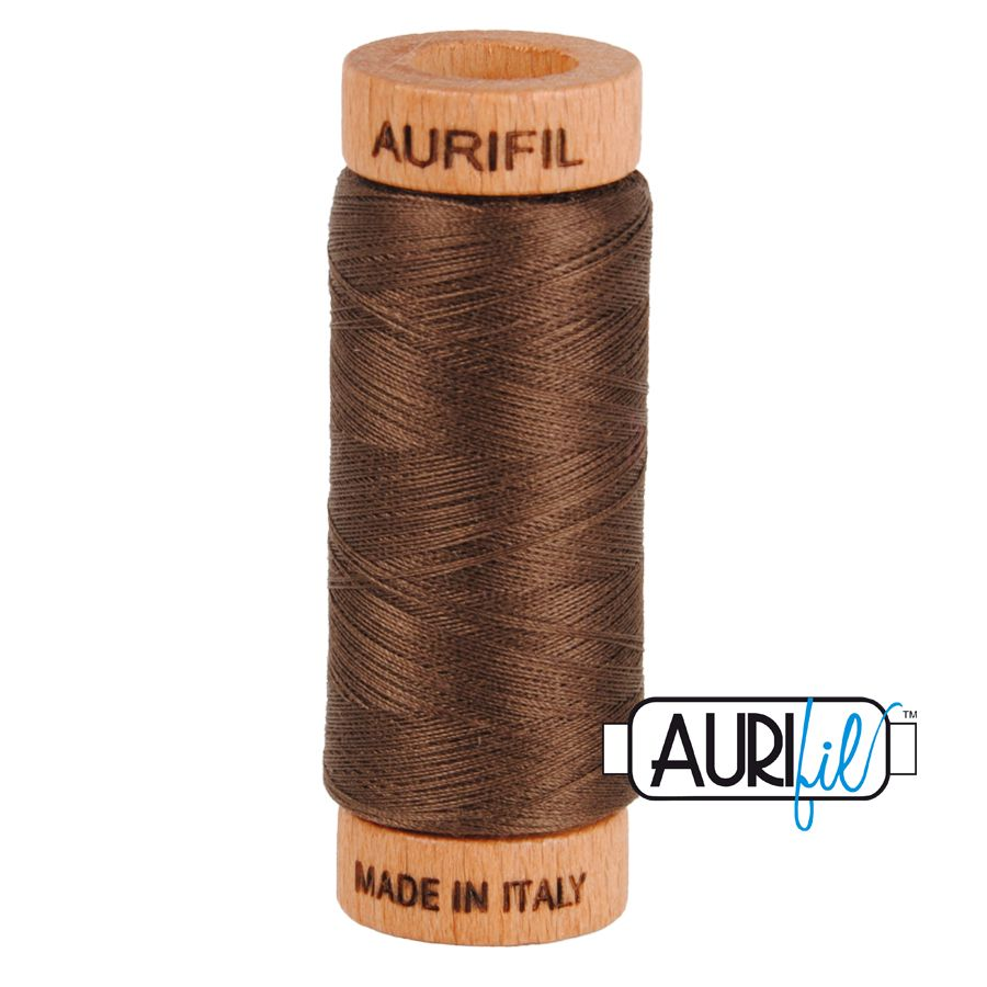 Aurifil Cotton 80wt, 1140 Bark