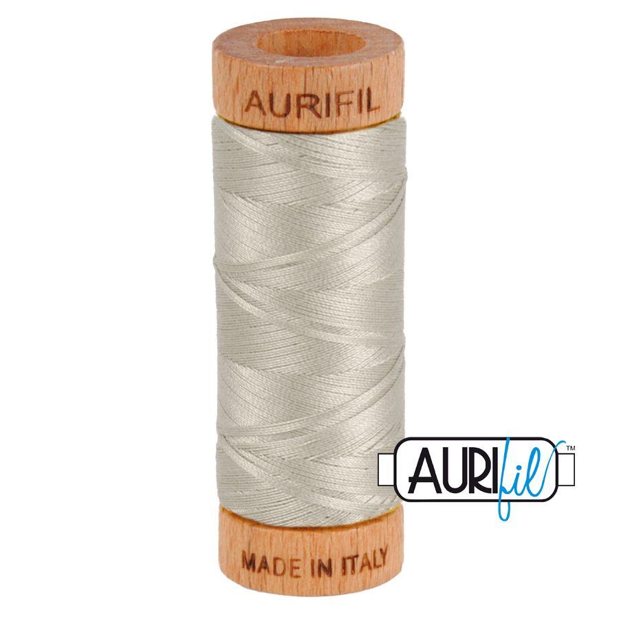 Aurifil Cotton 80wt, 5021 Light Grey