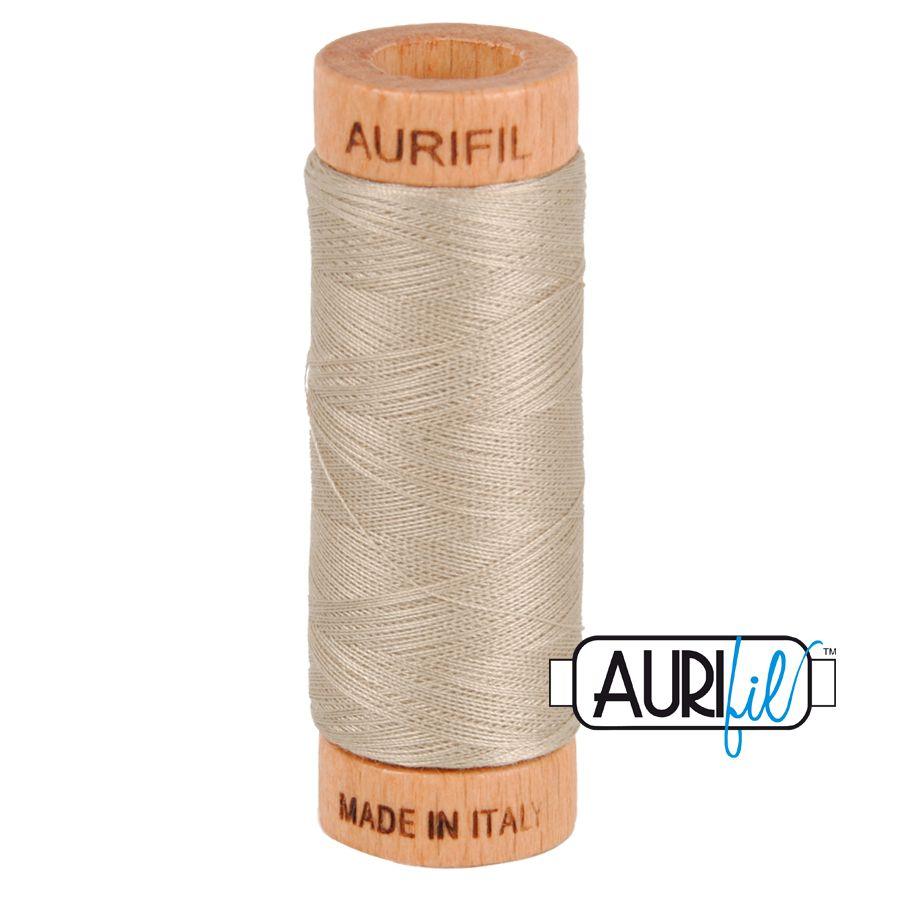 Aurifil Cotton 80wt, 5011 Rope Beige