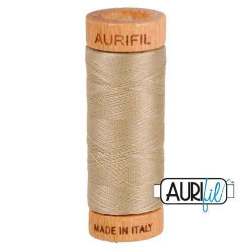 Aurifil Cotton 80wt, 2325 Linen
