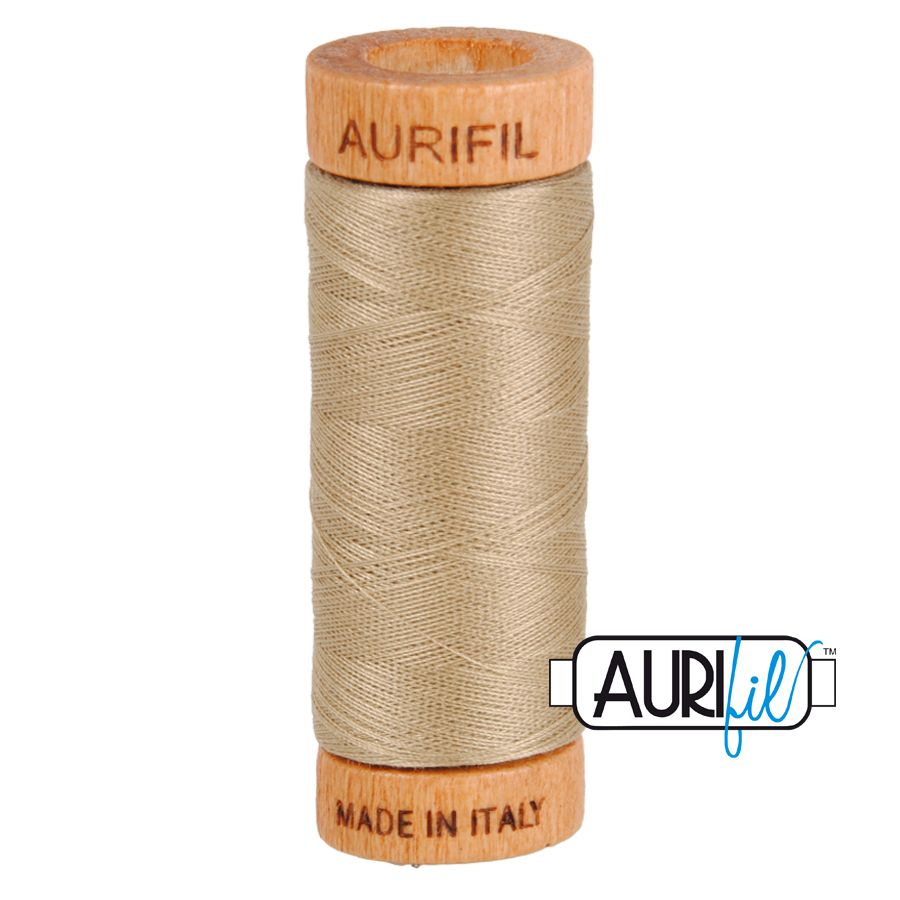 Aurifil Cotton 80wt, 2325 Linen