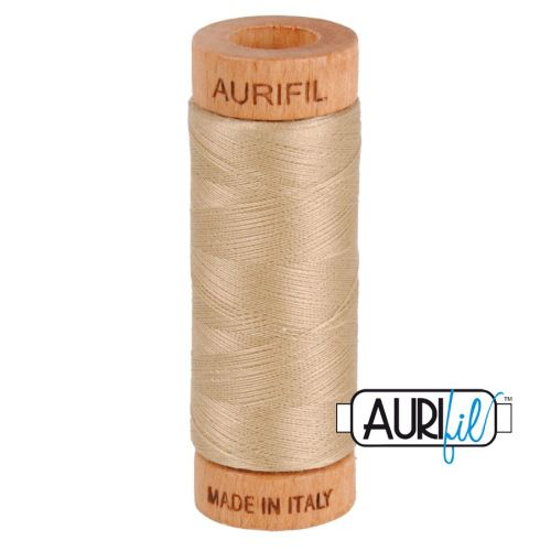 Aurifil Cotton 80wt, 2326 Sand