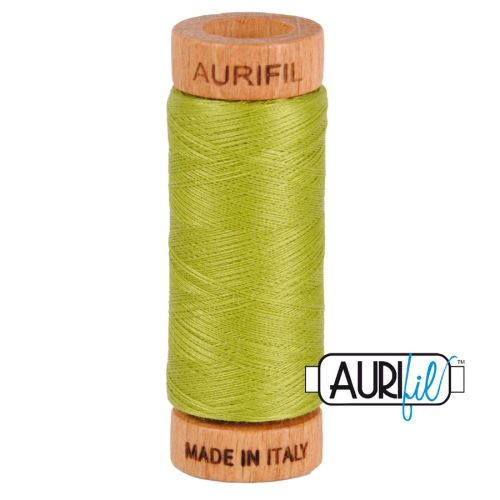 Aurifil Cotton 80wt, 1147 Light Leaf Green