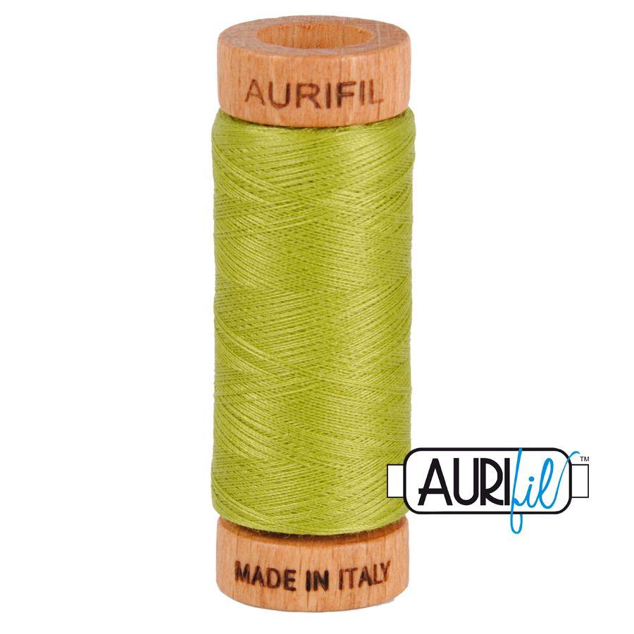 Aurifil Cotton 80wt, 1147 Light Leaf Green