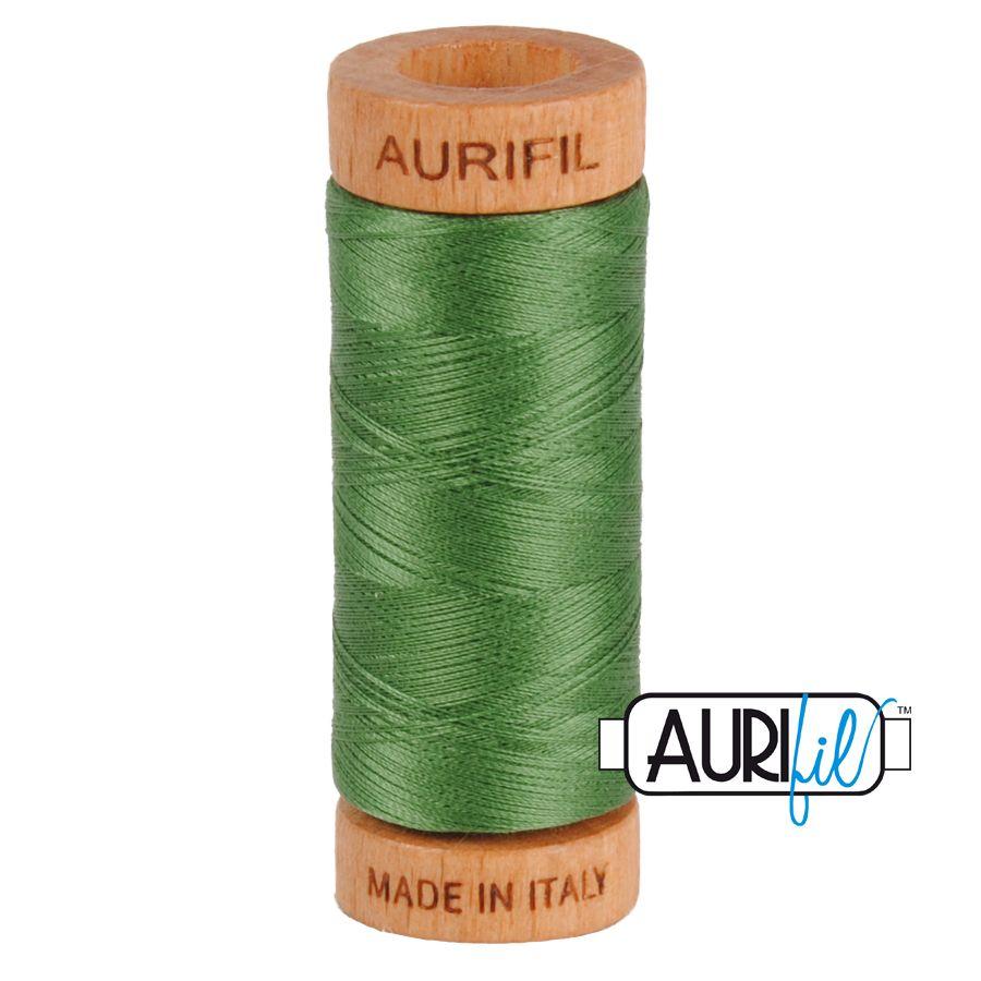 Aurifil Cotton 80wt, 2890 Very Dark Grass Green
